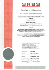 ISO-14001-2004 Certificate