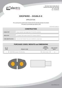 Dropwire - Double-D