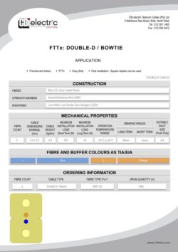 catalogue DOUBLE D cables pg1