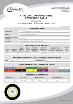 FTTx Dual Purpose Fibre Optic Drop Cable pg1